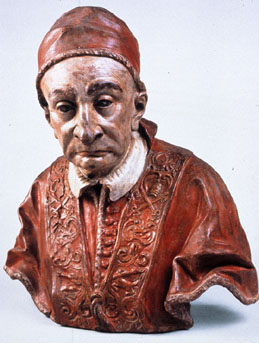 Colourful bust of Benedict XIII